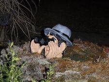 Skulptur Garten Jäger Fernglas Gartenfigur  Deko Beobachter Figur Spanner Spion