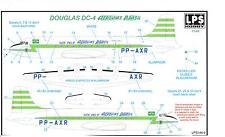 LPS Decals 1/144 DOUGLAS DC-4 SKYMASTER AEROVIAS BRASIL Green Color Scheme