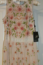Adrianna Pappel Formal Beaded Dress Prom Formal Bridesmaid Size 2 NWT Blush Pink