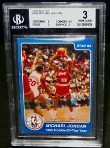 BGS 3 VG 1984/85 Star MICHAEL JORDAN Rookie Basketball Card #288 Chicago Bulls