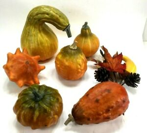 Lot FAKE FOOD 8 pcs FALL SQUASH Realistic Lifesize Prop Play Home Stage Decor