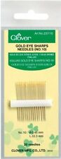 Clover Gold Eye Sharps Needles-Size 10 20/Pkg