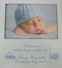 "Baby Boy Photo Frame "" What are little boys made of? Blue"