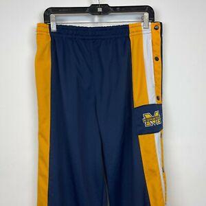 Michigan Wolverines Basketball Sweatpants Vtg 90s Phenom NCAA Button Snap L
