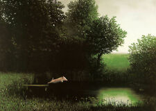 Diving Kohler's Pig Michael Sowa Art Print When Pigs Fly Flying Off Dock Poster