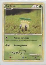 2010 Pokémon HeartGold & SoulSilver Base Set Spanish 85 Sunkern Pokemon Card 2f4