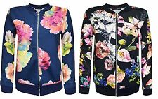 Zip Casual Floral Coats & Jackets for Women