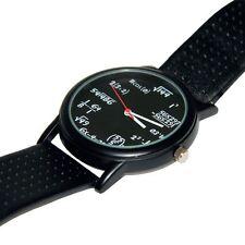 Equation Watch Fun Novelty Mathematic Geeky Wristwatch Gift Black Face Wrist