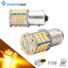 Syneticusa 1156 LED Amber Turn Signal Blinker Indicator Hi Power Light Bulbs