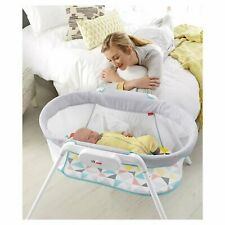 Fisher-Price Stow'nGo Infant Newborn Bassinet With Calming Vibrations-White|Nwob