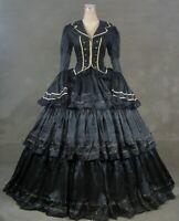 Victorian Lolita Civil War Evening Gothic Fancy Dress Halloween Custom Made