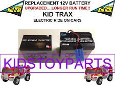 NEW! LONG LASTING FIRE TRUCK KID TRAX REPLACEMENT BATTERY