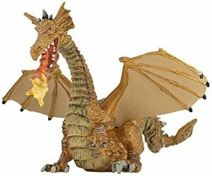 Papo Gold Dragon with Flame Figure