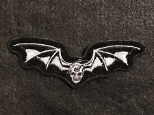 SKULL With Wings Biker Patch---006BG