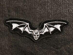 SKULL With Wings Biker Patch---006BG