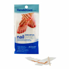 Graham HandsDown Soak Off Wooden Sticks Gel Polish 10 Nail Wraps Wipes Remover