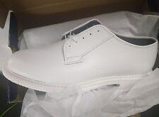 Brand New Bates 131-B Men Lites White Leather Naval Oxford Shoe. Size 10 D