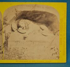 1860s Suisse Stereoview 143 Monument Du Lion Lucerne Alpine Club William England