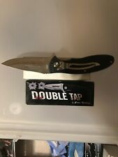 The Double Tap! Black 4.5 inch tactical Knife- Excellent For Hunting/Camping