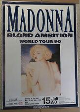 Madonna 1990 Blond Ambition Tour Concert Poster Koln Germany Munggersdorfer