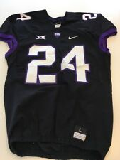 Game Worn Used Nike TCU Horned Frogs Football Jersey #24 Size L