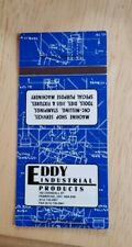 Vintage Matchbook Eddy Industrial Products Pembroke Ontario Canada Crandall St.