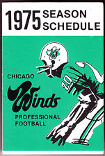 1975 CHICAGO WINDS MCCORMICK INN FOOTBALL POCKET SCHEDULE  FREE SHIPPING