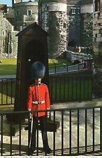 Postcard  London Guardsman outside  Tower of London  John Hinde