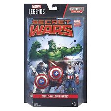 "2016 HASBRO MARVEL LEGENDS 2-PACK SHIELD WIELDING HEROES 3 3/4"" FIGURES MOC"