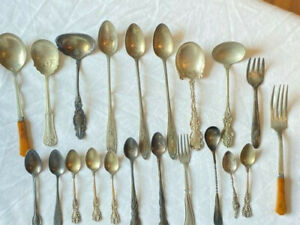 Vintage Silverplate/Miscellaneous Serving Ladles/Spoons Wm. Rogers & Unbranded