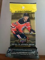 2018-19 Upper Deck Series 1 Hockey Factory Sealed Value Fat Pack