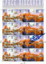 Apollo 16 Astronaut Charlie Duke Autographed Sheet of Space Discovery Stamps