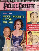 1959 Police Gazette May-Wrestling's Lover Boy Stanlee; Mickey Rooney; E Williams