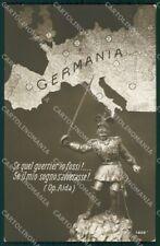 WW1 WWI Propaganda Kaiser Wilhelm Map RPPC cartolina postcard XF7700