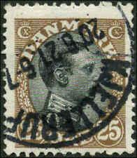 Denmark Scott #107 Used