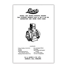 Instruction and Spare Parts booklet produced for Lister Petrol & Parafin Engines