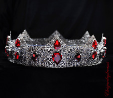 Red crown, Red headpiece, Crystal crown, Red crown, Silver tiara, Male Crown Man