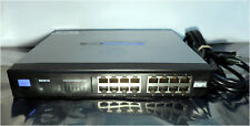 Cisco Linksys SR2016 - 16 port 10/100/1000 Gigabit Network Switch - Tested!