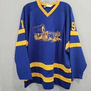 Vtg 80s NNHL National Novice Hockey League Zimmerman 19 Game Jersey Mens XL USA