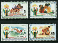 Olympics Barcelona 4 mnh stamps 1992 Penrhyn #401-4 Swim Boxing Track Wrestling