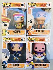 Funko Pop Dragon Ball Z KRILLIN #110 GOHAN #106 TRUNKS #107 MAJIN BUU #111 New👍