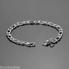1 PC Bracelet a Chaîne Style Simple Mode Bijoux Chic Argent mat 20cmx6mm