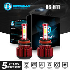 H11 Led Headlight 6000K 1800W 270000Lm Low Beam Bulbs High Power 6500K White
