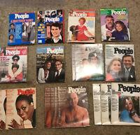 Lot Of 18 People Weekly 1974 1982 1985 No Label Vintage Advertising Honda Poster