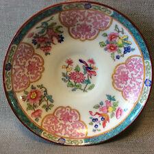 England Angleterre sous-tasse Minton porcelaine anglaise décor floral signée