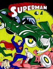 POP ART SUPERMAN # 1 ORIGINAL COMIC ART BY COMIC BOOK ARTIST JAMES CHEN