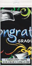 Graduación Mantel de Plástico Negro Birrete Graduación Vajilla Fiesta