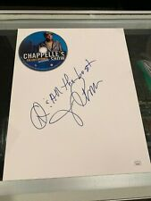 DAVE CHAPPELLE SIGNED 11X14 BLANK FRONT SIDNEY CROSBY ON REVERSE WITH DVD JSA