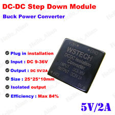 Mini DC-DC Buck Step Down Converter 9-36V 24V 12V to 5V 2A Isolated Power Supply