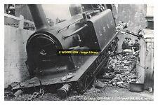 rp14061 - LBSC Steam Train Accident at Littlehampton 1920 - photo 6x4